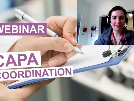 WEBINAR - Continuous improvement tools at the service of CAPA coordination