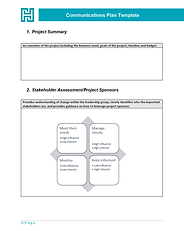 Preview of Communications Plan Template
