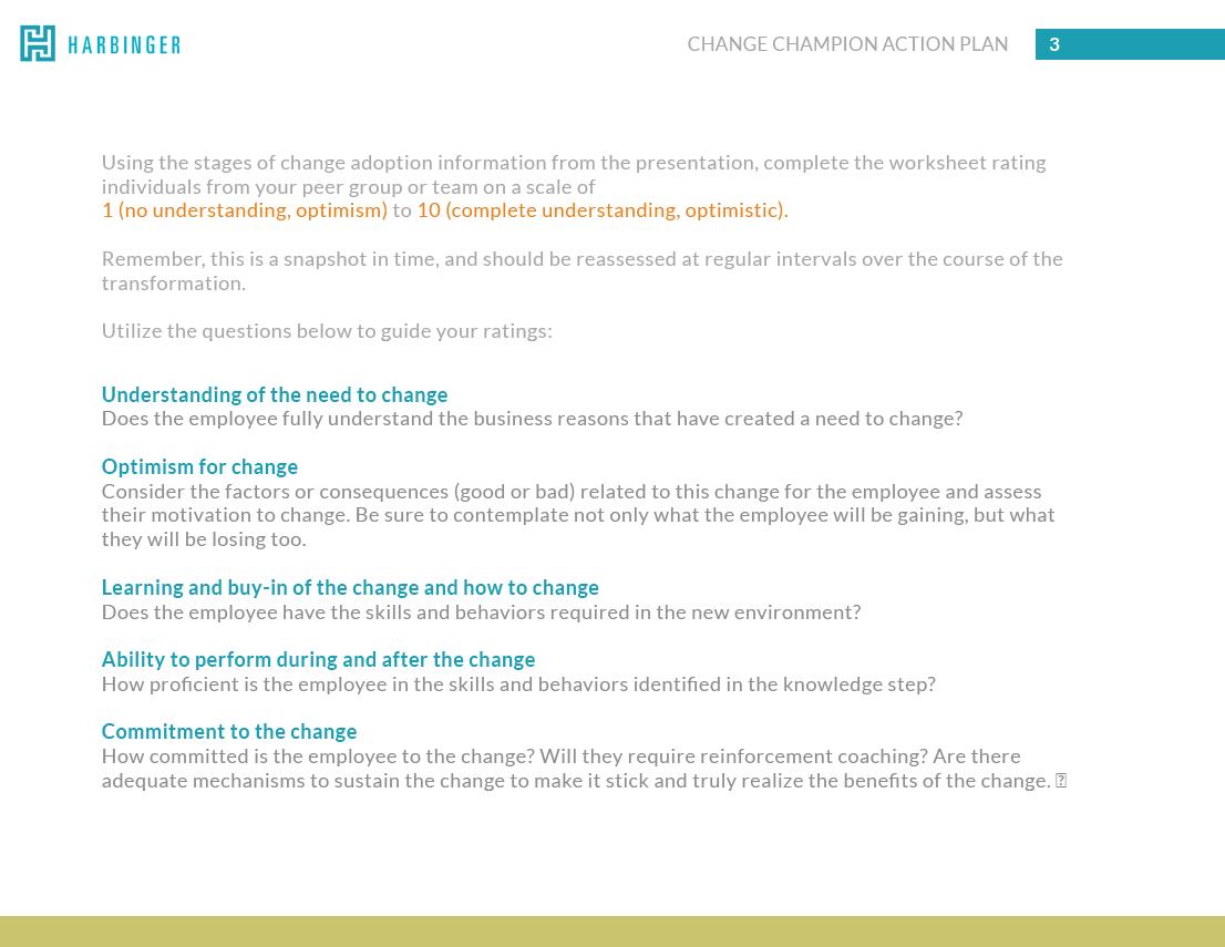 Practical Change Management Masterclass Workbook