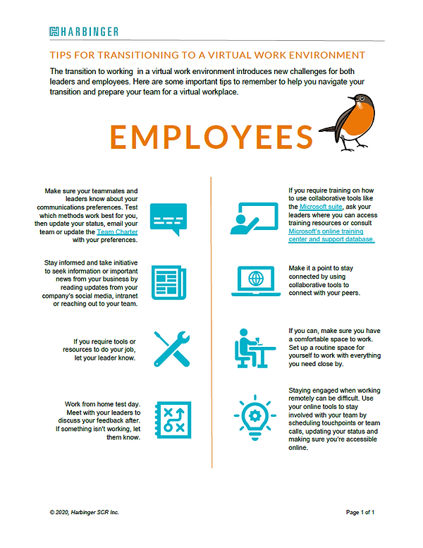 Work From Home Tipsheet for Employees