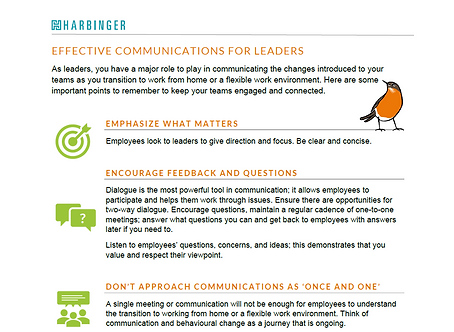 Preview of Communication Tipsheet for Leaders