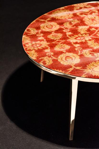Detail bronze Café 6116 coffee table - Atelier Ruben van Megen