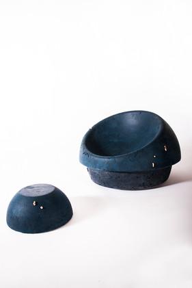 Sandcastles lounge chair and ottoman - Atelier Ruben van Megen