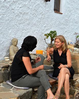 Coaching on the Zen terrace
