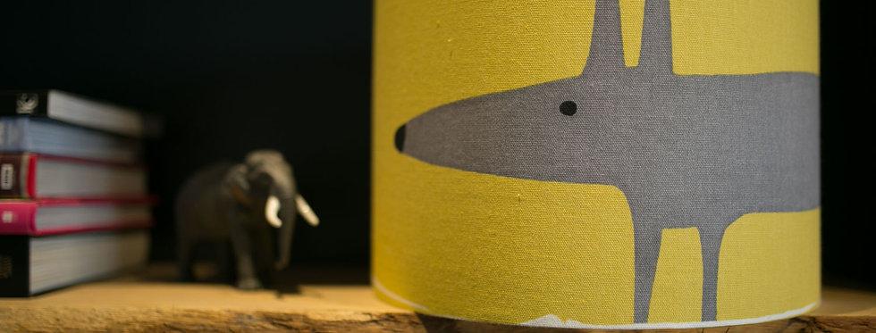 Handmade Drum Lampshade in Mr Fox Mustard