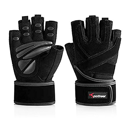 Sportneer Padded Gloves with Wrist Straps