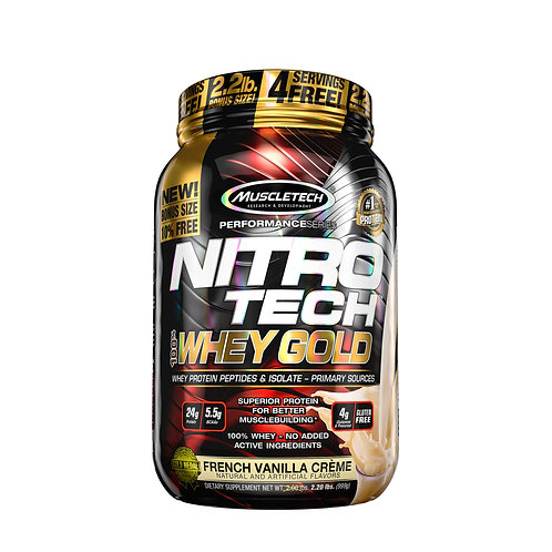Nitrotech 100% Whey Gold | 2.2LBs | French Vanilla