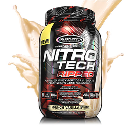 Nitrotech Ripped Whey Protein   French Vanilla Swirl   2lbs