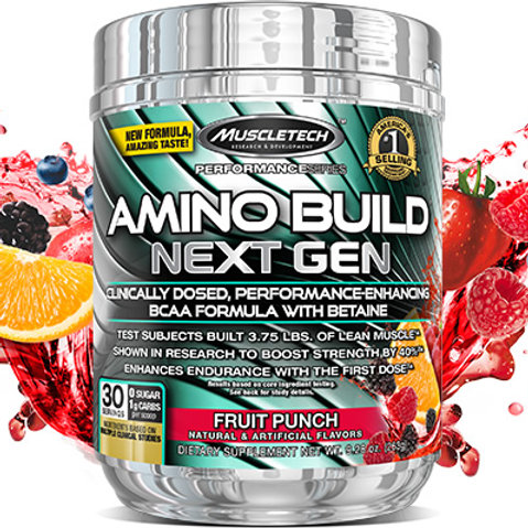 Muscletech Amino Build BCAAs | 30 servs | Fruit Punch