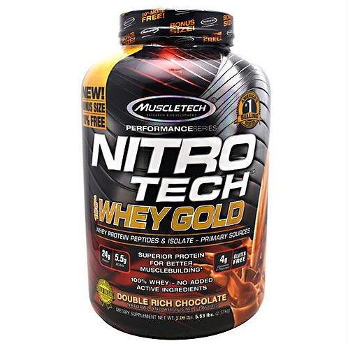 Nitrotech 100% Whey Gold | 2.2LBs | Double Rich Chocolate