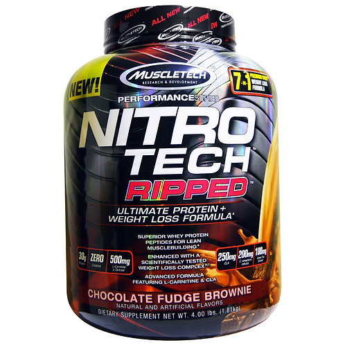 Nitrotech Ripped Whey Protein | Chocolate Fudge Brownie | 2lbs