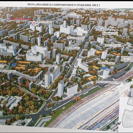 Визуализация планировочного решения - общий план района