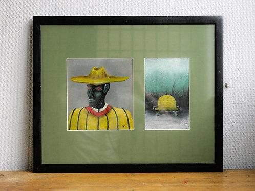 Painting Reptilians - Yellow Sofa
