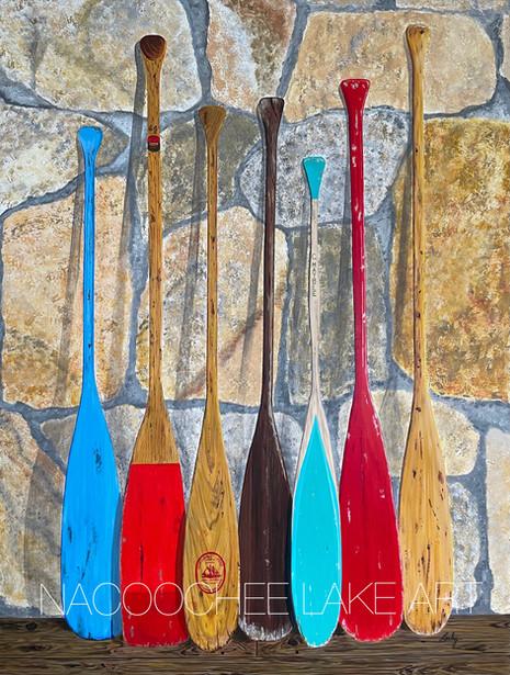 Paddles on Kentucky Fieldstone