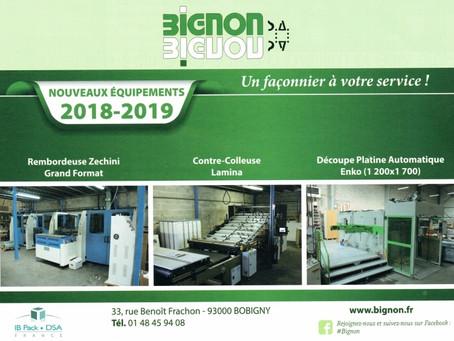 Bignon SA, fidèle représentant de nos marques