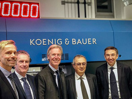 Koenig & Bauer et Duran Machinery s'unissent pour former Koenig & Bauer Duran