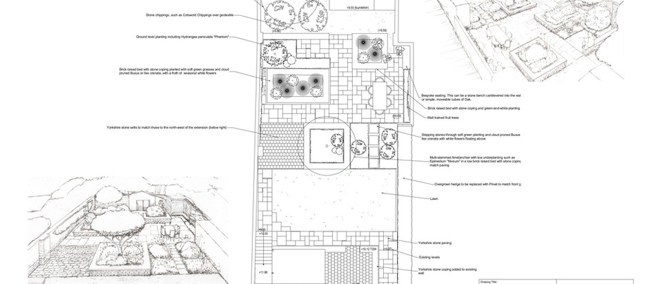 Focus on a Town Garden in Harrogate: Example Design by Earthworks Garden Design