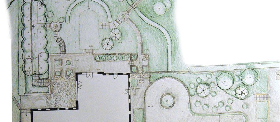 Focus on a Sloping Country Garden near Harrogate: Example Design by Earthworks Garden Design