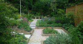 View from the House After Earthworks Garden Design