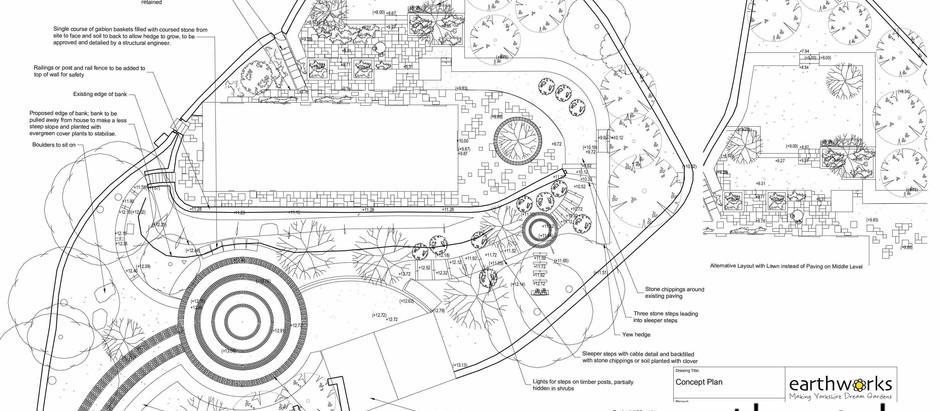 Focus on a Hillside Garden near Sowerby Bridge: Example Design by Earthworks Garden Design