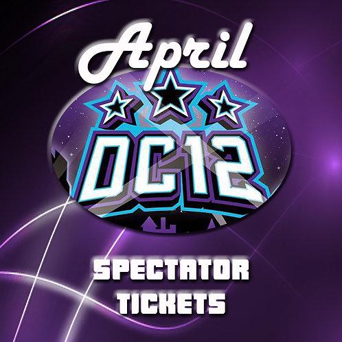 ADULT (16+) DC12 April Ticket Reservation
