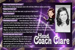 Head Coach Clare