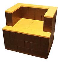 Modular building blocks-chair-EverBlockN