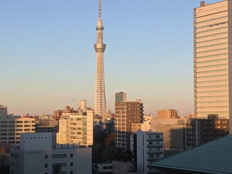 今日は東京に