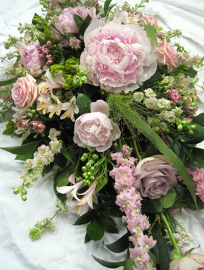 Sympathy Flowers - Double ended. Spray of seasonal blooms
