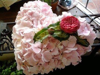 Sympathy Flowers - Pink Heart