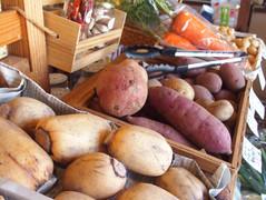 量り売りの野菜たち