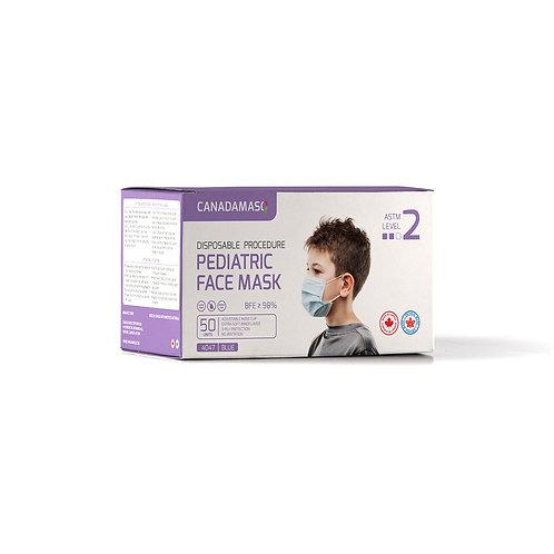 Canada MasQ ASTM Level 2 Pediatric Face Mask - 50 pcs