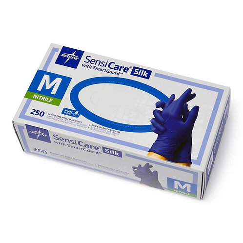 SensiCare Silk Powder-Free Nitrile Exam Gloves (Case of 2500)
