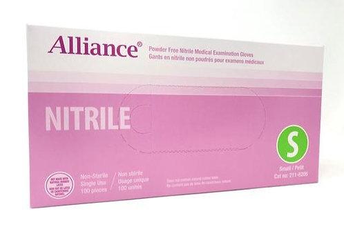 Alliance Powder-Free Nitrile Medical Examination Gloves (10 Boxes of 100 / Case)