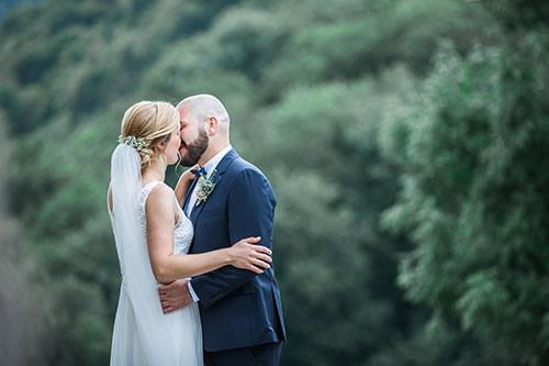 Brautpaar verträumt