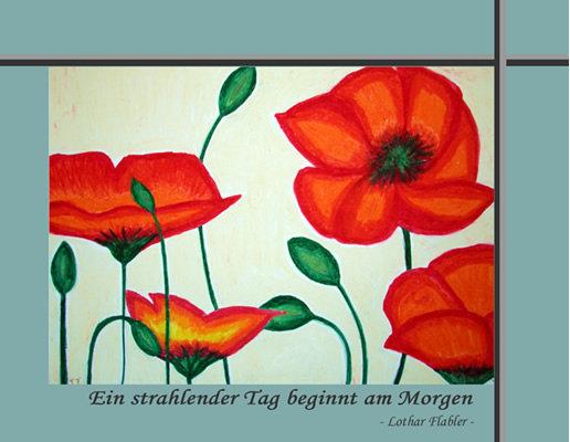 Postkarte - Mohnblume