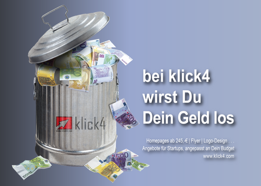Geld los werden - Muelleimer-01 (Klein)