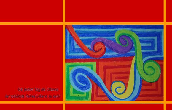 Postkarte - Zug