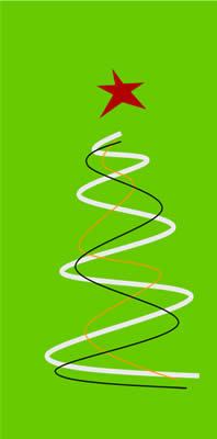 Klappkarte - Weihnachten in grün