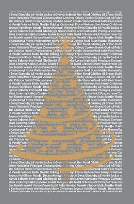 Postkarte - Weihnachten in gold
