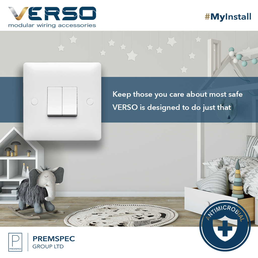Stay Safe Verso Wiring Accessories Help To Kill 99 Of Bacteria