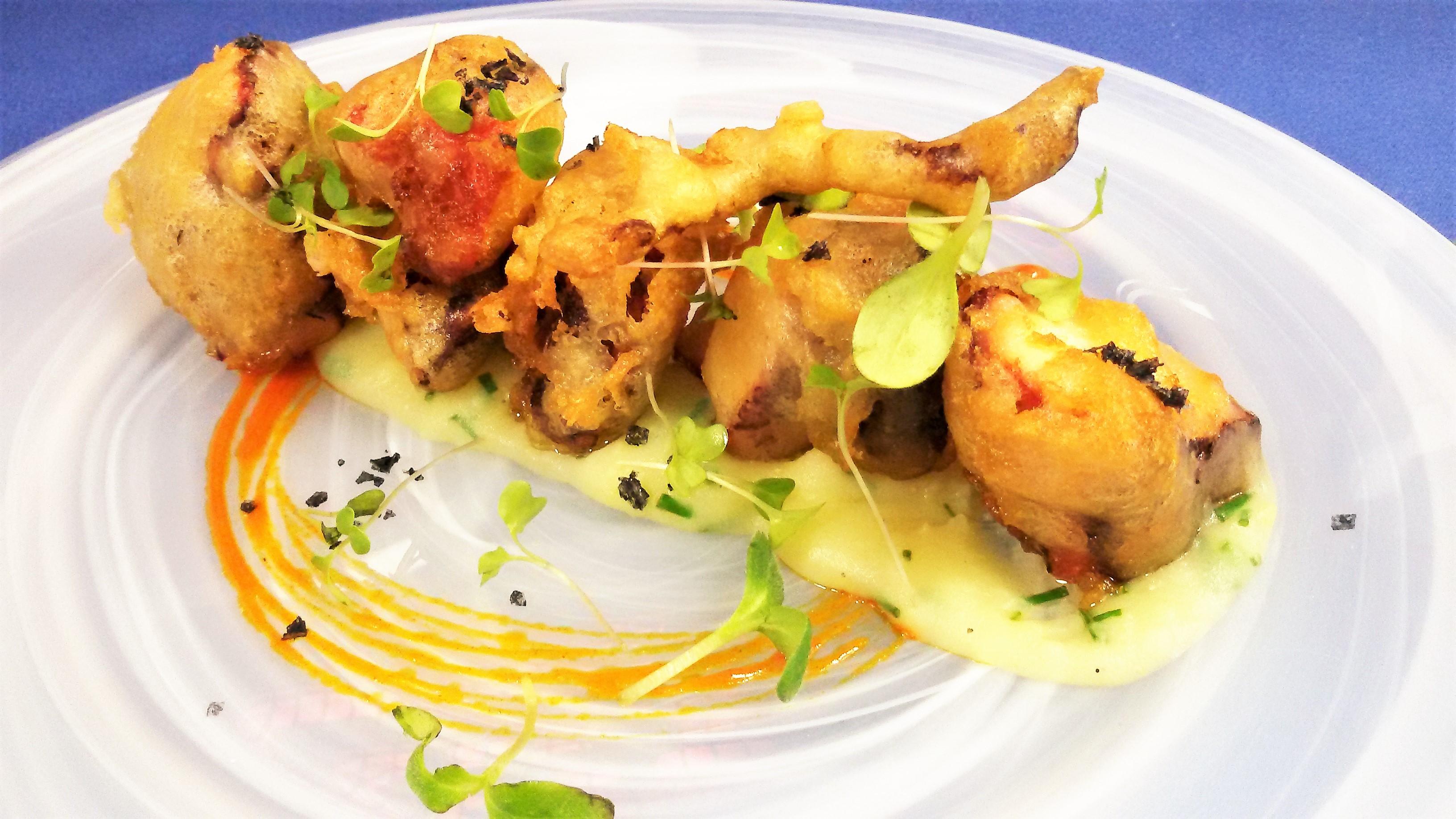 pulpo tempura