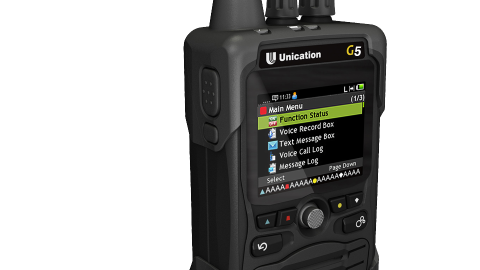 Unication G5 Dual Band UHF (400-470 MHz) / 800 MHz P25 Voice Pager - Phase II