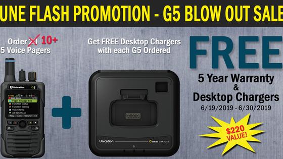 G5 Flash Promo Enhanced! Order by 6/30/19!