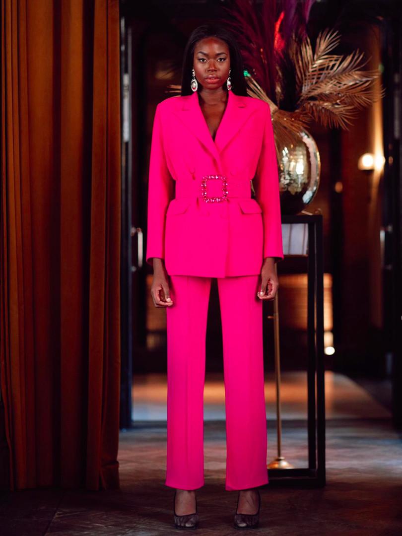 Pinky Blazer and Pinky Pants