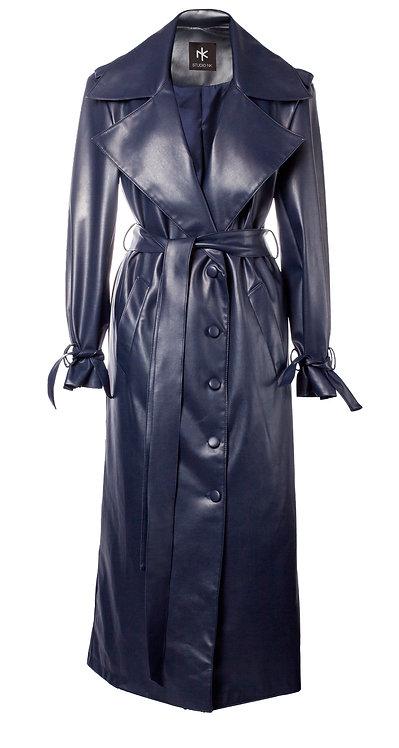 Veg Leather Trenchcoat