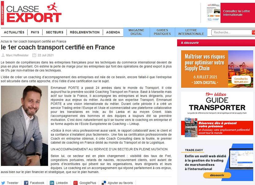 Article Presse - Classe Export.JPG