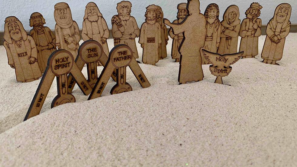 Jesus & 12 Disciples& Trinity 23 pieces