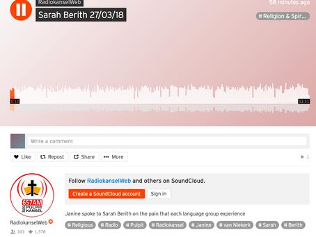 English Recorded 13 min Radio Interview