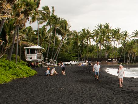 Green Sand Beach & Black sand beach